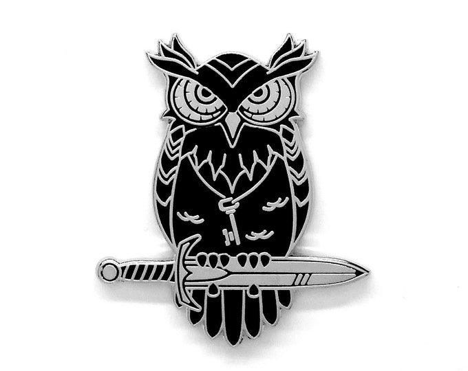 Owl Pin - Hard Enamel