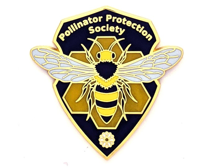 Honey Bee Pin - Hard Enamel