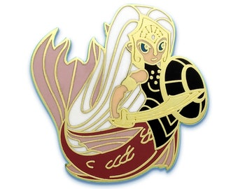 Mermaid Pin - Hard Enamel -  Deep Defender