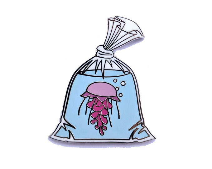 Jelly Fish in a Bag - Hard Enamel Pin