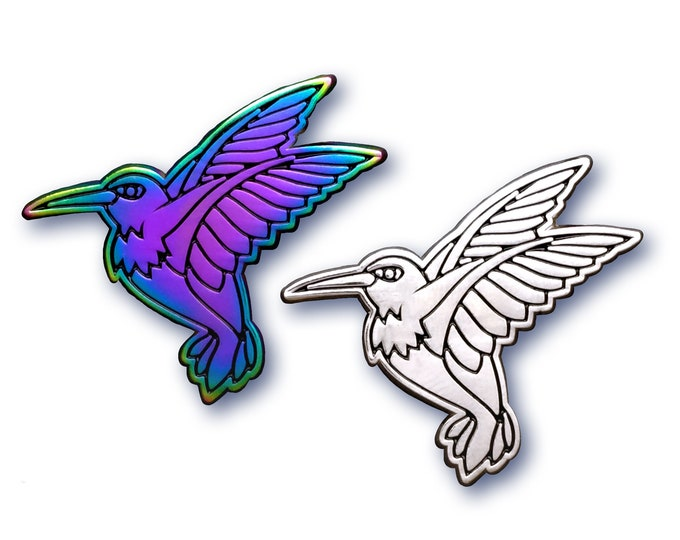 Silver Hummingbird Pin