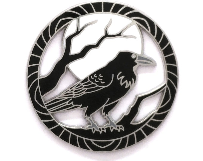 Encircled Raven - Hard Enamel Pin