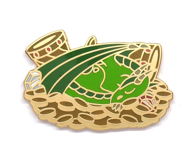Dragon Enamel Pin - Dragon Pin - Dragon Badge
