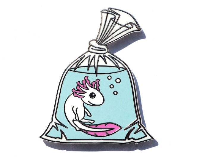 Axolotl in a Bag Pin - Hard Enamel Pin