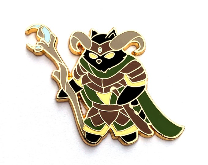 Druid Class - RPG Black Cat - Hard Enamel Pin