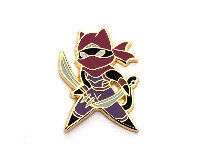 Rogue Class - RPG Black Cat - Hard Enamel Pin