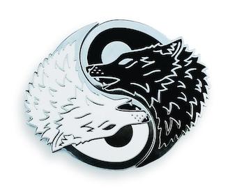 Yin Yang Wolf Pin Set