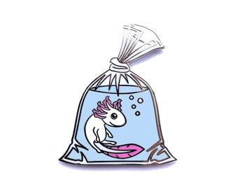 Axolotl in a Bag Pin - Hard Enamel Pin