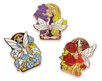 Flower Fairy Hard Enamel Pin Set