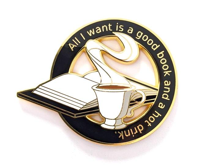 Bookish Pin - Coffee Pin - Tea Pin - Hard Enamel Pin