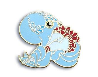 Octopus Pin, Rose Pin, Flower Pin, Enamel Pin, Valentines Pin, Valentine's Pin, Cute Pin, Anniversary Gifts, Seconds Sale , Anime Pin