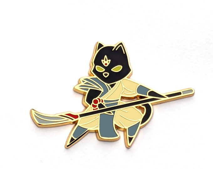 Monk Class - RPG Black Cat - Hard Enamel Pin