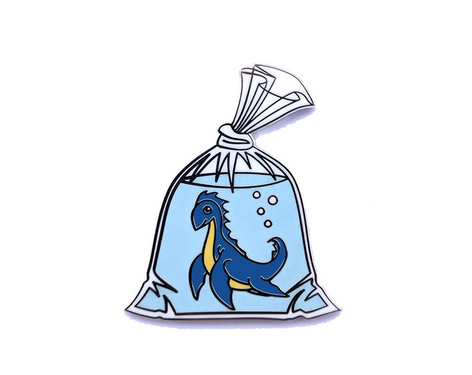 Loch Ness Monster in a Bag - Hard Enamel Pin