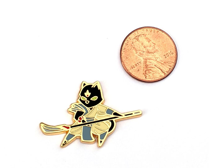 Mini Monk Class - RPG Black Cat - Hard Enamel Pin