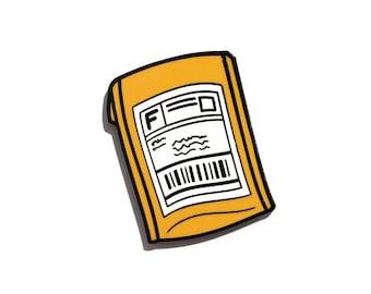 Bubble Mailer Pin - Hard Enamel