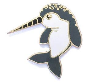 Narwhal Pin, Ocean Pin, Unicorn Pin, Cute Pin, Cute Animal Pin, Enamel Pin, Unicorn of the Sea