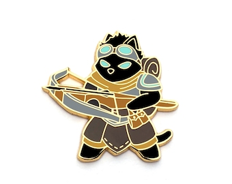 Artificer Class - RPG Black Cat - Hard Enamel Pin