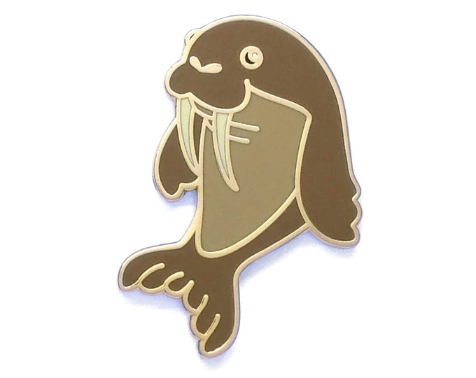 Walrus Pin, Ocean Pin, Chubby Pin, Cute Pin, Cute Animal Pin, Enamel Pin, Unicorn of the Sea