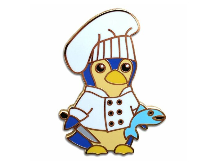 Penguin Chef Hard Enamel Pin