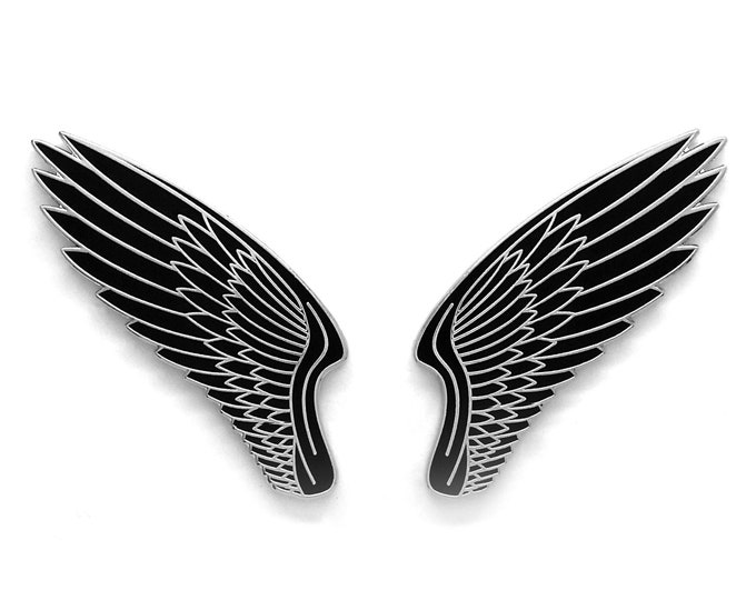 Black Wing Hard Enamel Pin Set