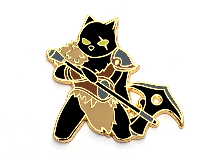 Barbarian Class - RPG Black Cat - Hard Enamel Pin