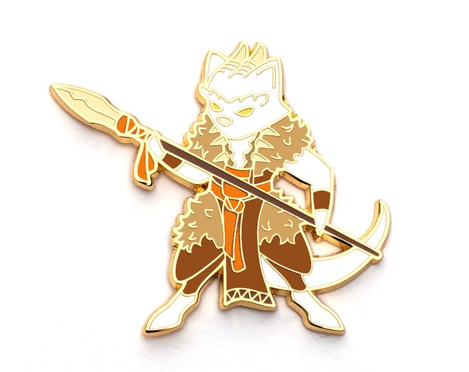 Druid Class - RPG Dragon Cat - Hard Enamel Pin