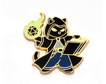 Game Master - RPG Black Cat - Hard Enamel Pin
