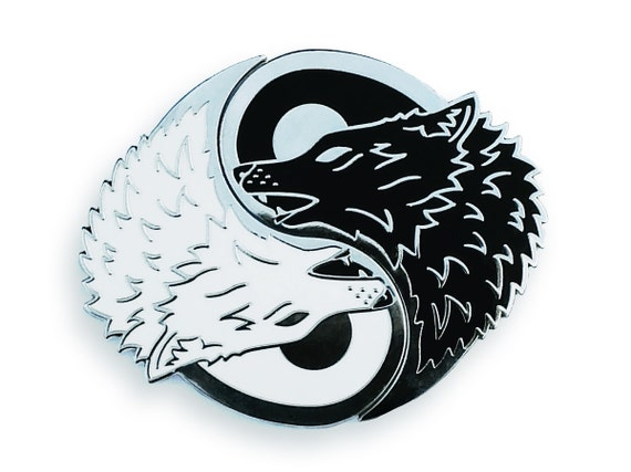 Yin Yang Wolf Pin Set Best Friend Gifts Couples Pins Enamel Etsy
