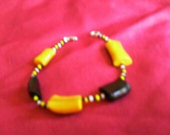 unique colorful bracelet multicolor Fimo