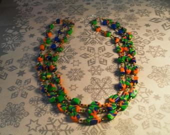 beautiful unique, stylish, handcrafted, original, colorful Necklace (multicolor)