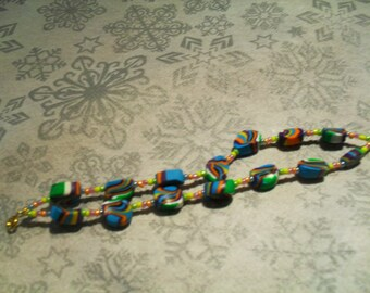 Bracelet double strand trendy, original, colorful (multicolor)