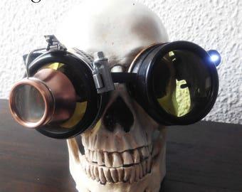 Yellow sunglasses cyberpunk steampunk - spikey sunglasses - eyeglasses cyberpunk chrome sunglasses with Magnifier Steamretro