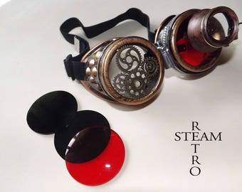 Steampunk Gothic cyber man welder goggles lenses AVIATOR sunglasses Goggles burning sunglasses with