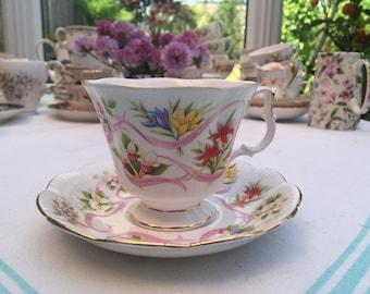 Vintage Canadian Royal Albert Bone China Cup & Saucer