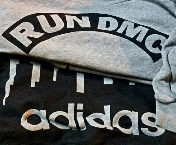 Vintage Adidas Run DMC Sweatshirts Hip Hop Rap Rare