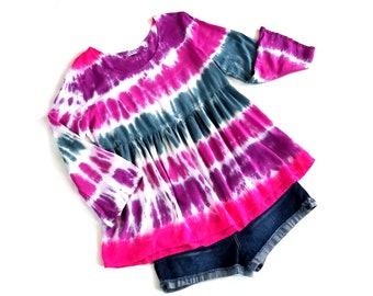 Pink blue purple Tie dye shirt women, hippie shirt women, boho shirt for women, festival shirt, boho top, summer shirt, festival clothing