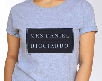 Daniel Ricciardo T shirt - White and Grey - 3 Sizes