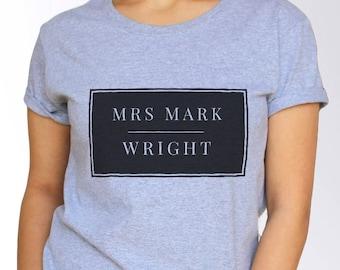 Mark Wright T shirt - White and Grey - 3 Sizes