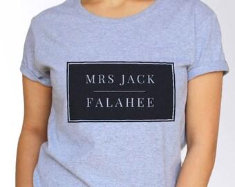 Jack Falahee T shirt - White and Grey - 3 Sizes