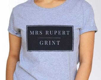 Rupert Grint T shirt - White and Grey - 3 Sizes