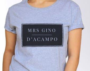 Gino D'Acampo T shirt - White and Grey - 3 Sizes