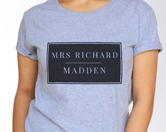 Richard Madden T shirt - White and Grey - 3 Sizes