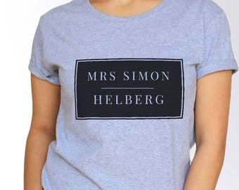 Simon Helberg T shirt - White and Grey - 3 Sizes