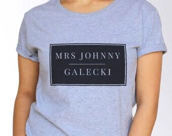 Johnny Galecki T shirt - White and Grey - 3 Sizes