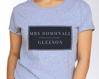 Domhnall Gleeson T shirt - White and Grey - 3 Sizes