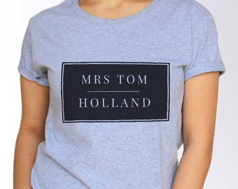 Tom Holland T shirt - White and Grey - 3 Sizes