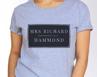 Richard Hammond T shirt - White and Grey - 3 Sizes