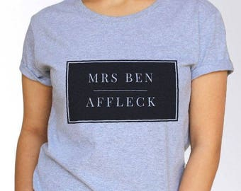 Ben Affleck T shirt - White and Grey - 3 Sizes