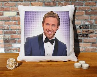 Ryan Gosling Pillow Cushion - 16x16in - White