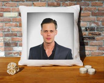 Bill Skarsgard Pillow Cushion - 16x16in - White